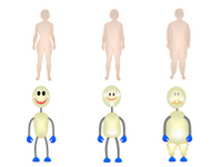 Body shapes of overweight and obese PPT Slide